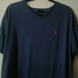 POLO MEN'S V NECK SIZE L DK BLUE